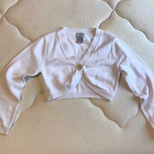 Short cardigan for girls size 6 years old.